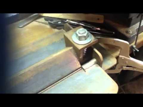 Simple home made sheet metal bender