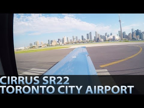 LANDING AND DEPARTING TORONTO CITY IN A CIRRUS SR22