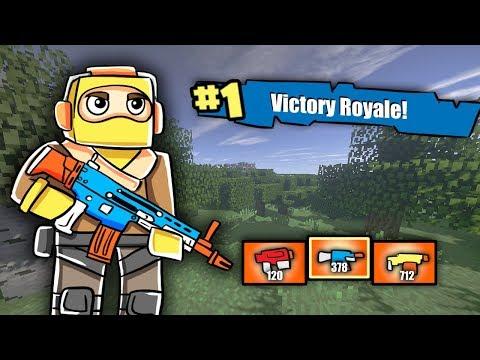 Minecraft - FORTNITE WITH NERF GUNS: Nerf War Challenge! (NERF Battle Royale)