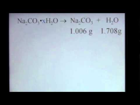 Stoichiometry of Hydrates