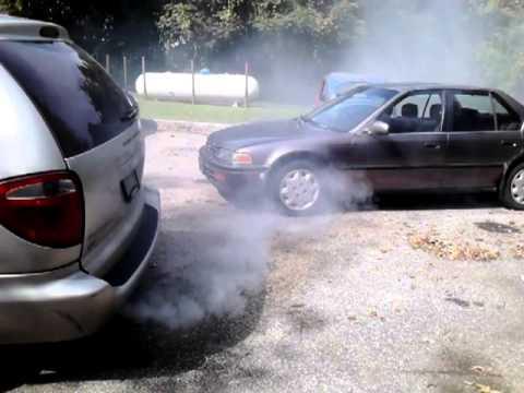SeaFoaming Dodge Caravan Smoke Only