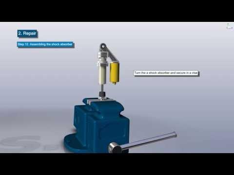 3D Repair Manual shock absorber of motorcycle OHLINS type