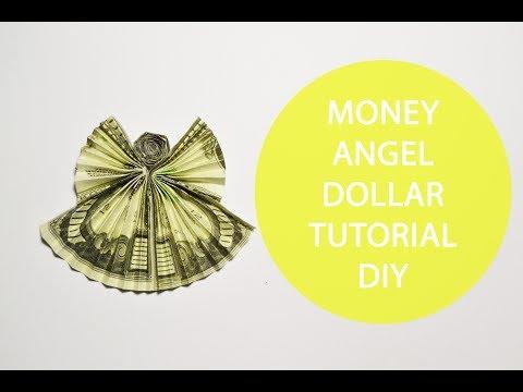 Money Angel Paper Dollar Tutorial DIY Decoration