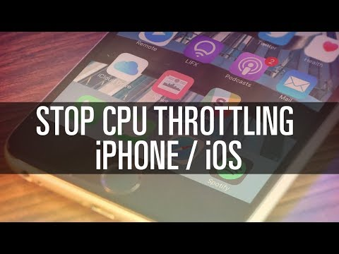 Disable CPU Throttling on iPhone
