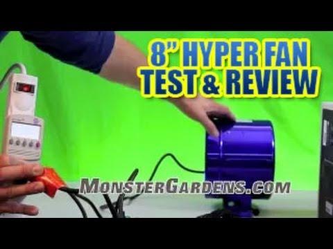 8 inch Hyper fan by Phresh - TEST & Review - Smallest Inline Ducting Fan Sunlight Supply's New Fan