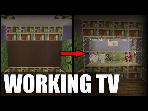 Working TV in Minecraft! (No Mods/Command Blocks)
