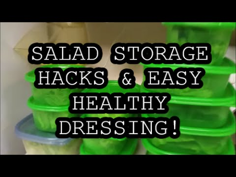 Bulk Salad Storage Tips + My Fave Oil-Free Dressing is so Easy & Delicious!