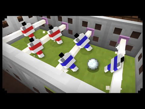 ✔ Minecraft: How to make a Football Table