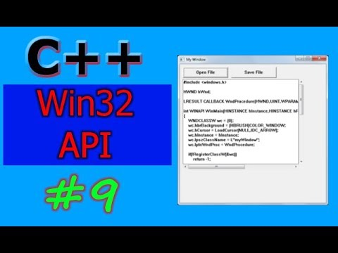 Windows GUI Programming with C/C++ ( Win32 API ) | Part -9 | Save File Dialog and Scrollbars