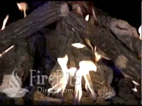 Fire Pit Logs and Fire Pit Glass Burning Demonstration