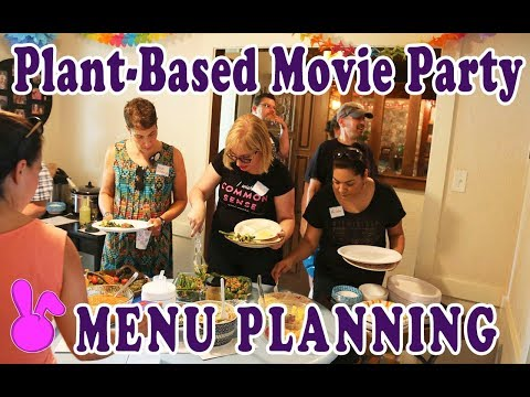 How to Host Plant-Based Movie Party - Menu Planning