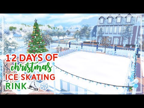 12 Days of Christmas in The Sims 4 🎄🎄 | Ice Skating Rink (Day #8)