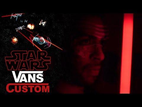 Vick Almighty's Star Wars Custom on a pair of Vans Slip-ons