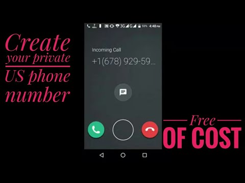 Create your own phone number at free | nick.youtube