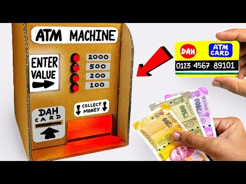 How to make ATM Machine from Cardboard DIY Science Project for KIDS at Home