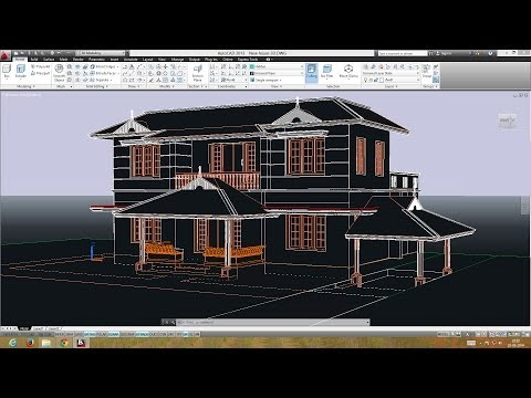 AutoCAD DOUBLE STORIED 3D HOUSE -  PREPARING THE PLAN FOR 3D