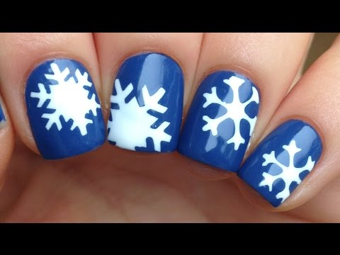 Nail Art Tutorial: Easy Snowflakes (using stencils)