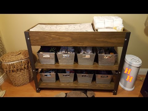 Make A Changing Table - Industrial Furniture DIY Idea