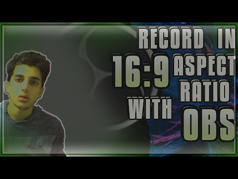 Record in 16:9 aspect ratio and remove black bars from videos using OBS | QRESPO