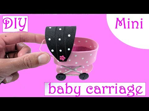 DIY Miniature Baby Carriage Stroller