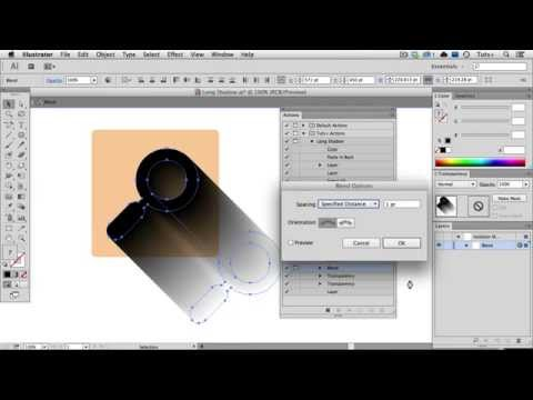 Quick Tip: Create a Long Shadow Using a Blend in Illustrator - Part 2