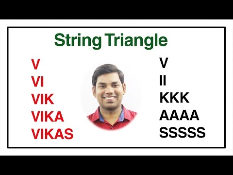 Printing String Triangle in C (HINDI)