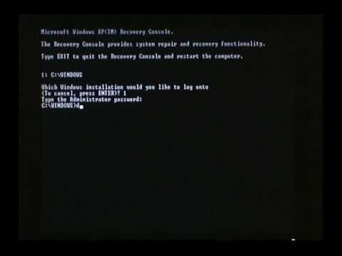 How to Expand a Fresh Copy of HAL.DLL in XP Recovery Console
