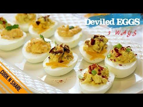 Deviled Eggs in Three Ways