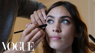 Alexa Chung Gets Ready for the Miu Miu Show With Tea and a Pair of Leather Hot Pants | Vogue