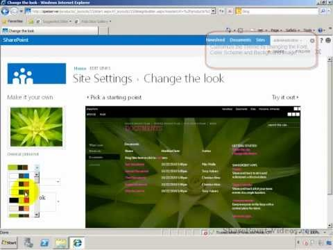 Changing the Theme of a Team Site - SharePoint 2013 (Technical Preview)