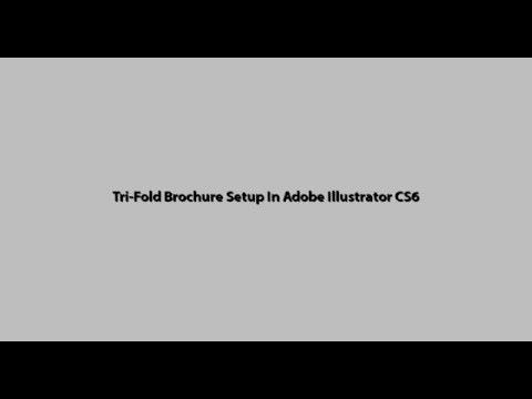 A4- tri-fold Brochure standard size setup in Adobe Illustrator cs6