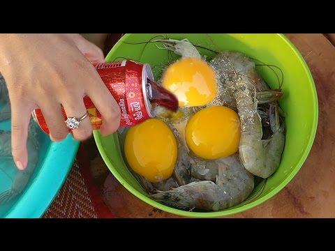 Wow! Beautiful Girl Cooking Shrimp With Coca Cola - How To Cook Shrimp In Cambodia