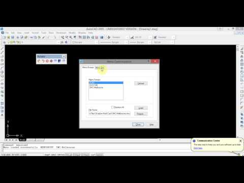 How to Load Menus and Toolbars in AutoCAD 2004 2005