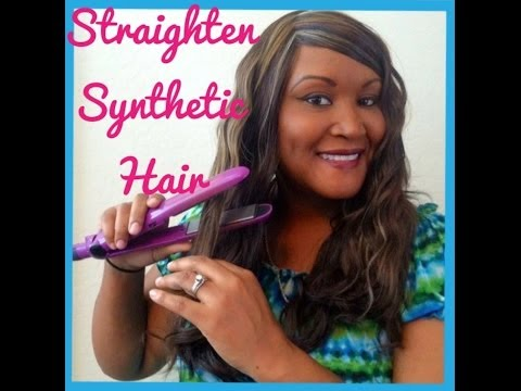 HOW TO STRAIGHTEN AND CURL SYNTHETIC HAIR EXTENSIONS  l  7ANGELHAIR7