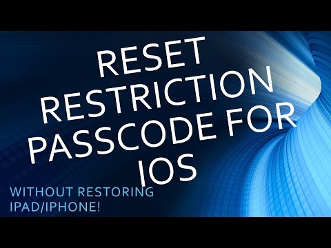 Reset restrictions Passcode for iPhone iOS 9 (Without Restore!)