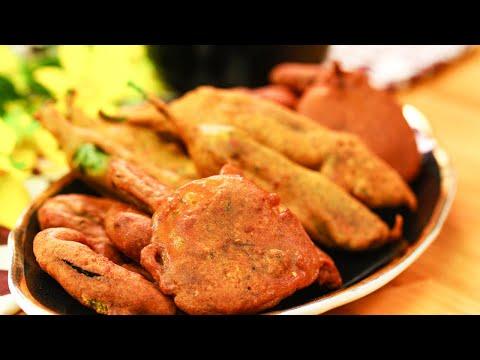 3 Types of Pakoras | Chili Pakora Recipe | Aloo Pakora Recipe | Baingan Pakora Recipe By SooperChef