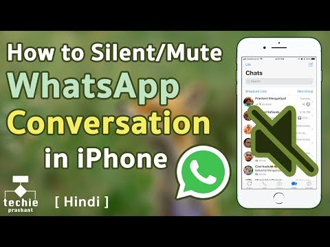 How to Mute or Silent WhatsApp Conversation on iPhone or Android. HINDI