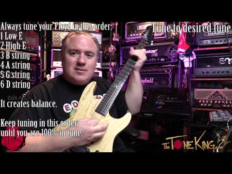 Drop-Tune FLOYD ROSE in 10 Minutes UNEDITED