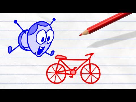 Uneasy Rider   Pencilmation Cartoon #39