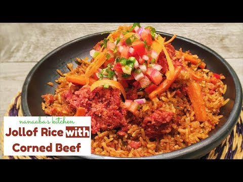✔How to cook  the Perfect corned beef Jollof Rice