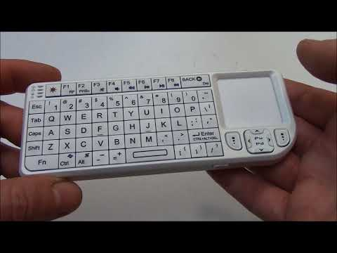 The Rii Mini Wireless Handheld Keyboard Mouse Laser Pointer Combo Instructions Review And Unboxing