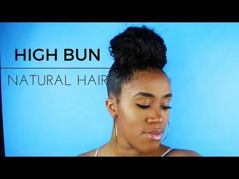 Sleek Edges | Natural Hair High Bun