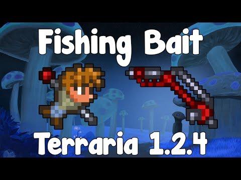 Fishing Bait! How to Start Out! - Terraria 1.2.4 - GullofDoom