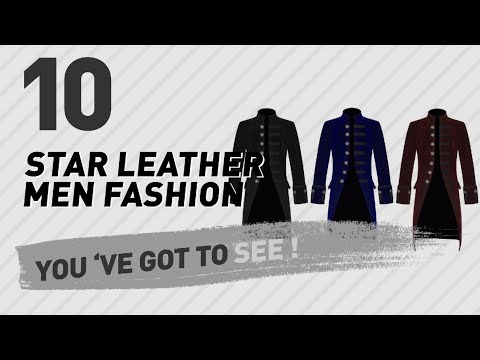 Star Leather Men Fashion Best Sellers // UK New & Popular 2017