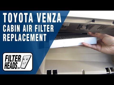 How to Replace Cabin Air Filter Toyota Venza