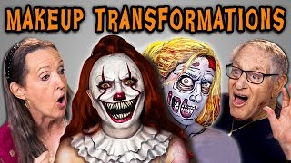 ELDERS REACT TO HALLOWEEN MAKEUP TRANSFORMATIONS
