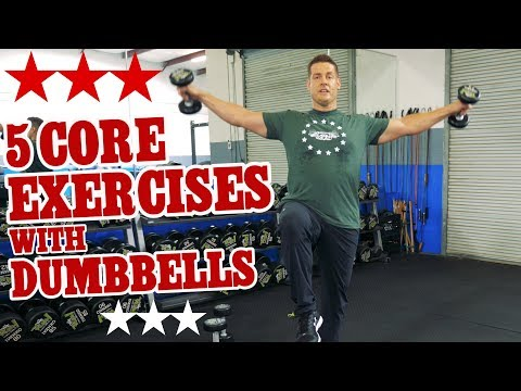 5 Core Exercises w/ Dumbbells inspired by Olympian Shaun White