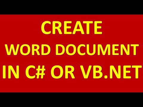 how to create word document in c# or vb.net