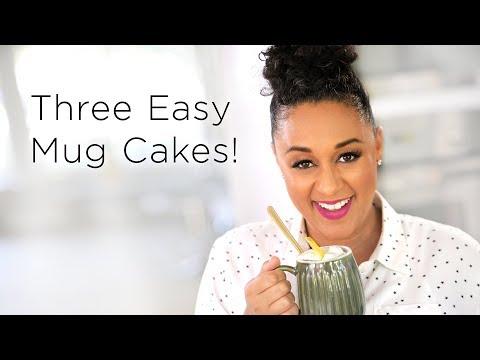 Tia Mowry's 3 Easy Microwave Mug Cake Recipes  | Quick Fix