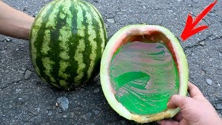 HOW TO MAKE A JELLO WATERMELON